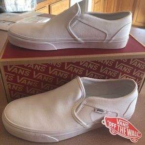 Pure White Asher Vans